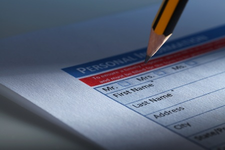 personal injury: Filling Document Form - Paperwork, office, business