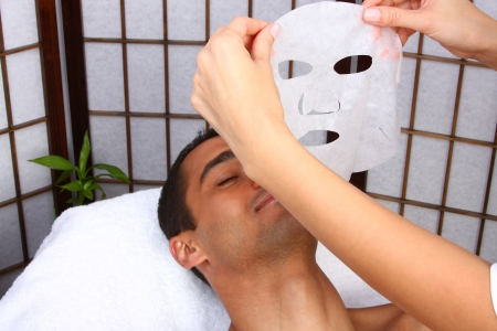 Young man receiving mask - SPA