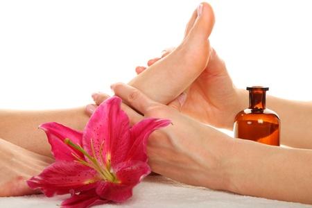 Beauty-Behandlung photo - Feet Massage Standard-Bild - 18252882