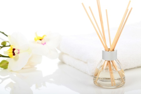 massage oil: Massage Therapist - Aromatherapy and Massage Oil Stock Photo