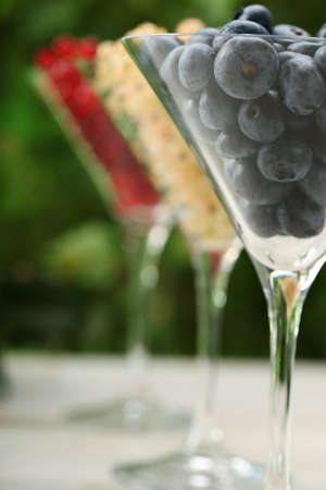 Currant fruits in glasses - Healthy Eating photo