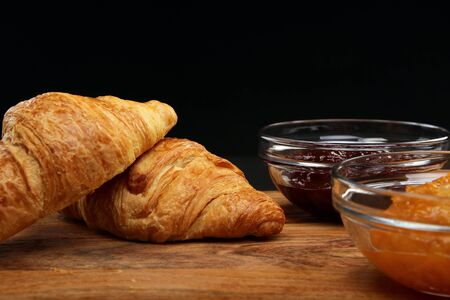 Croissant and Jam - Food Products Stock Photo - 18439394