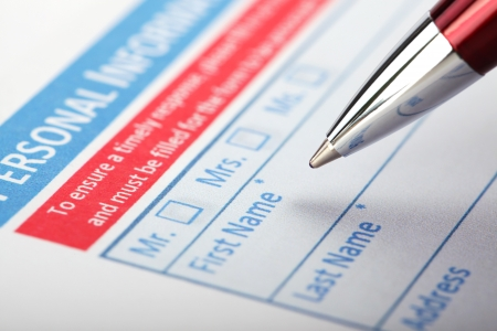 Filling Document Form - Paperwork, office, business