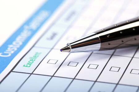 questionary: Filling Document Form - Paperwork, office, business