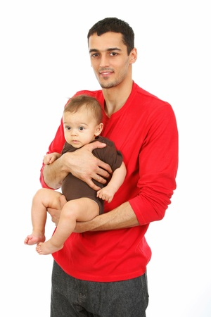 Family - Baby and Father - isolated