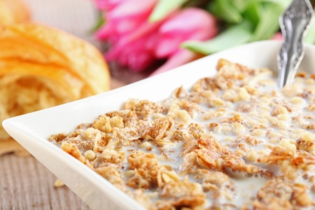 Table Breakfast - Continental Breakfast - muesli  Standard-Bild