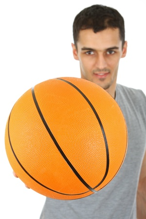 Sport - Basketball player holding ball Standard-Bild