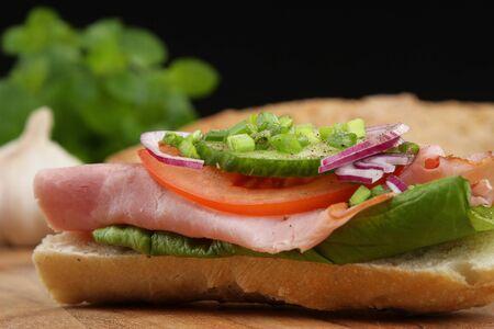 Sandwich Detail Standard-Bild