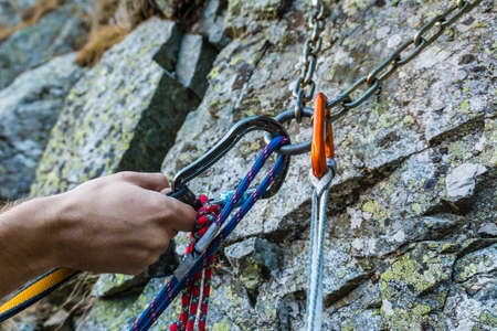 rappel: Self-arrest on the rappel stance position in anticipation of the free rope