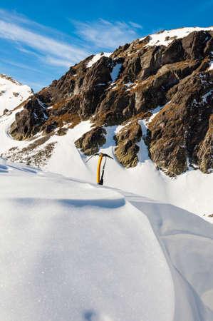 ice axe: Yellow ice axe