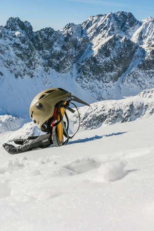 mountaineering: Basic equipment for winter mountaineering trek