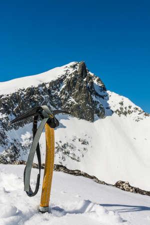 ice axe: Must winter Ice axe or mountain hiking