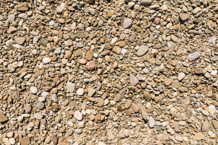 aggregates: Gravel as a natural pattern Stock Photo