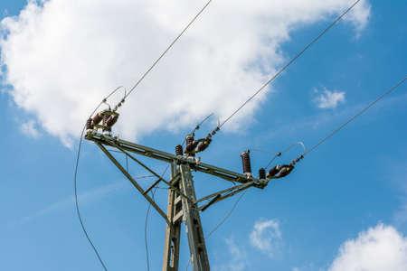 dielectric: Ceramic insulators on power medium voltage pole