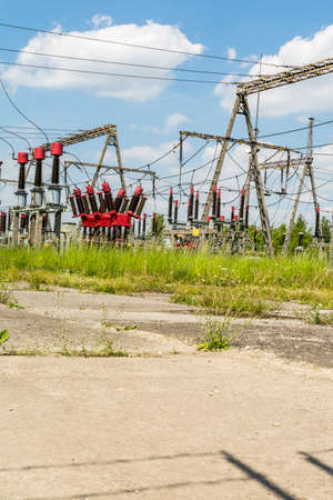 breaker: Circuit breaker as a component of Electrical substation.