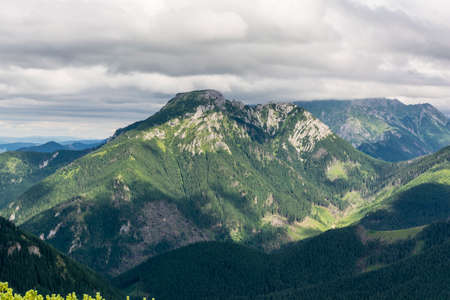 mugo: Outstanding and beautiful massif Kominiarski Wierch Stock Photo