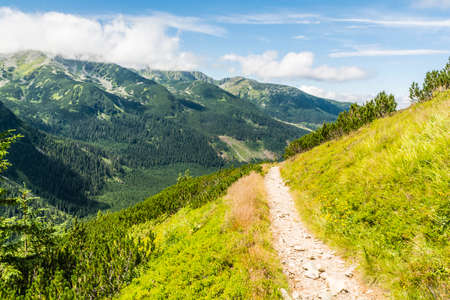 routed: Trails in the mountains are routed to reveal the beauty of the mountains