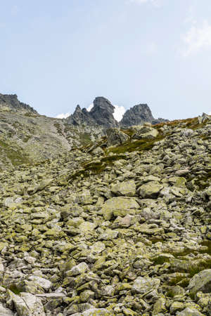the crags: Crags (Wolowe Rogi (Volie rohy) in the main ridge on the Tatra Mountains on the border between Slovakia and Polish