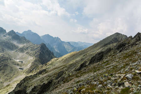 passes: Tatra peaks and passes after passing storm Stock Photo