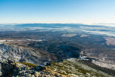mugo: In the valley of the territory of Slovakia, seen from a mountain slope.