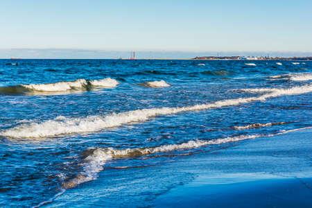 choppy: Waves on a stormy sea.
