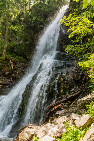 tatras: Waterfall - Rohacsky vodopad in the Western Tatras.