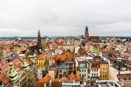 Wroclaw, Poland - August  05, 2016: Buildings in the city center.