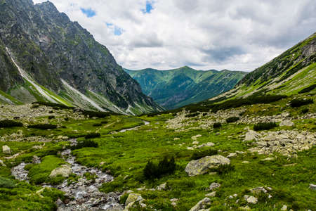 upper floor: Stream in the upper floor of the valley in the Tatra Mountains.