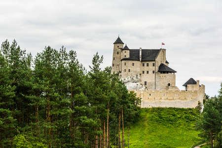 bobolice: Bobolice, Poland - August  23, 2016: Bobolice Castle - Trail of the Eagles Nests in Poland.