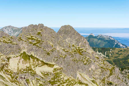 ancients: Ridge ancients or ridge Koscielcow and Giewont in Tatras. Stock Photo