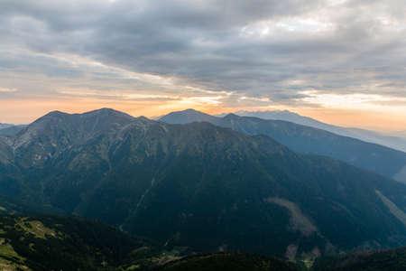 dreamlike: Dreamlike sunrise in the mountains (Tatra Mountains).