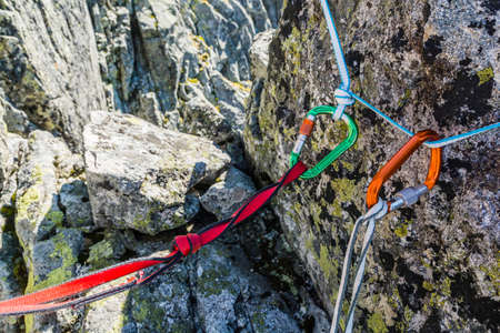 belay: Safety loop - preferably with nylon loop and recommended loop Dyneema.