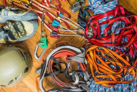 descender: Hardware or necessary equipment for rock climbing.