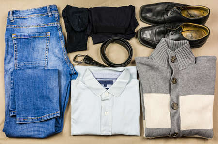 An exemplary set of clothes for a young man.