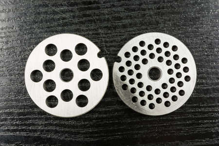 Plates (large, small) for home electric meat grinder.