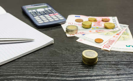 Revaluation of turnover from sales in euro. Stock Photo