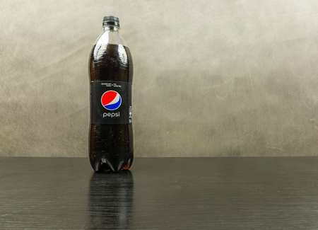 Niedomice, Poland - March 06, 2018: Bottle with Pepsi Max - made by Pepsico.