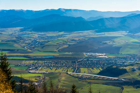 Likavka, Slovakia - November 17, 2018: Village Liskova in the valley in the Liptov region in Slovakia.