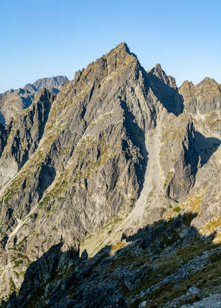 Summit - Intermediate Gran (Prostredny hrot, Stredohrot). One of the 14 peaks included in the so-called Great Crown of the Tatra Mountains. Zdjęcie Seryjne