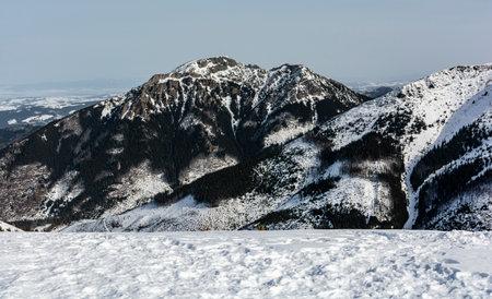 The peak Kominiarski Wierch (Kominy Tylkowe) in the Western Tatras in Poland. Nature Reserve. Zdjęcie Seryjne