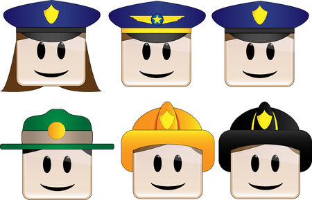 Police, Officer, Firefighter, Park Ranger Vector