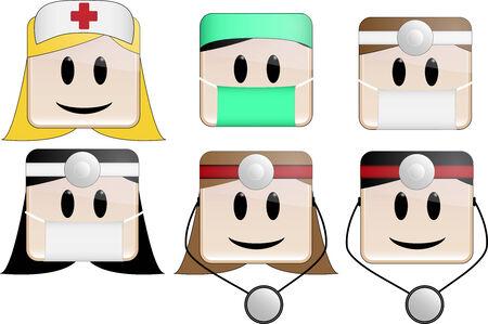 surgeon operating: Icons Professions