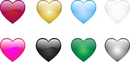 Colored Hearts Vector