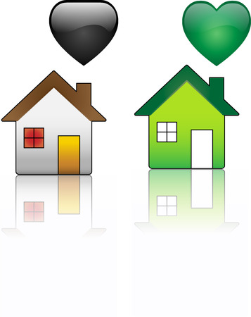 Ecological House versus Regular House Stock Vector - 4773204