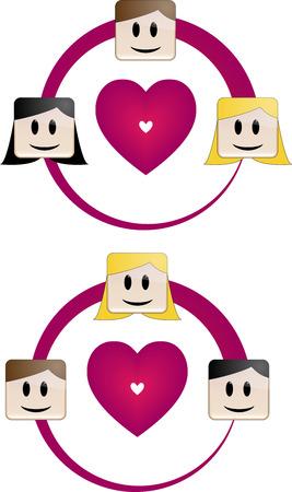 heterosexual: Heterosexual Love Triangle