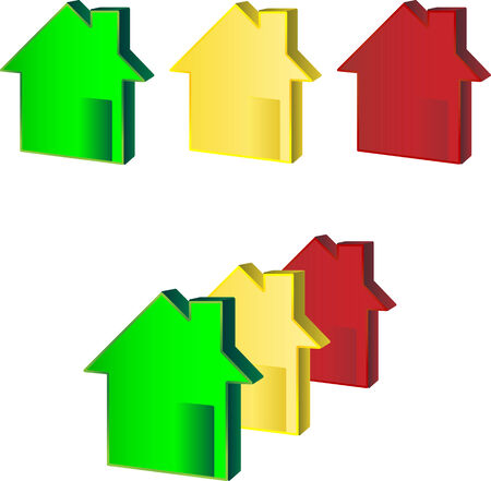 Green, yellow, red house