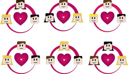 heterosexual: Tri�ngulos amor heterosexual, Bisexual y Heterosexual Homosexual, Gay y Lesbiana