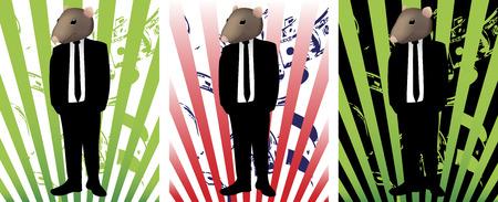 Rat in Suit Stock Vector - 4849495