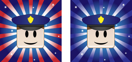 Policeman Background with Stars and Stripe in american flag colors Stock Vector - 4863383