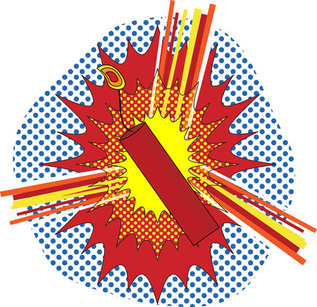ignited: TNT Dynamate in a pop art cartoon explosive style